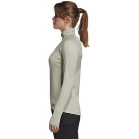 adidas TERREX TraceRocker Longsleeve Shirt 1/4 rits Dames, ash silver
